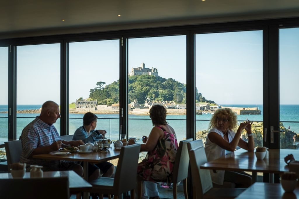 Meal with a view. Photo: Mike Newman St Michael's Mount