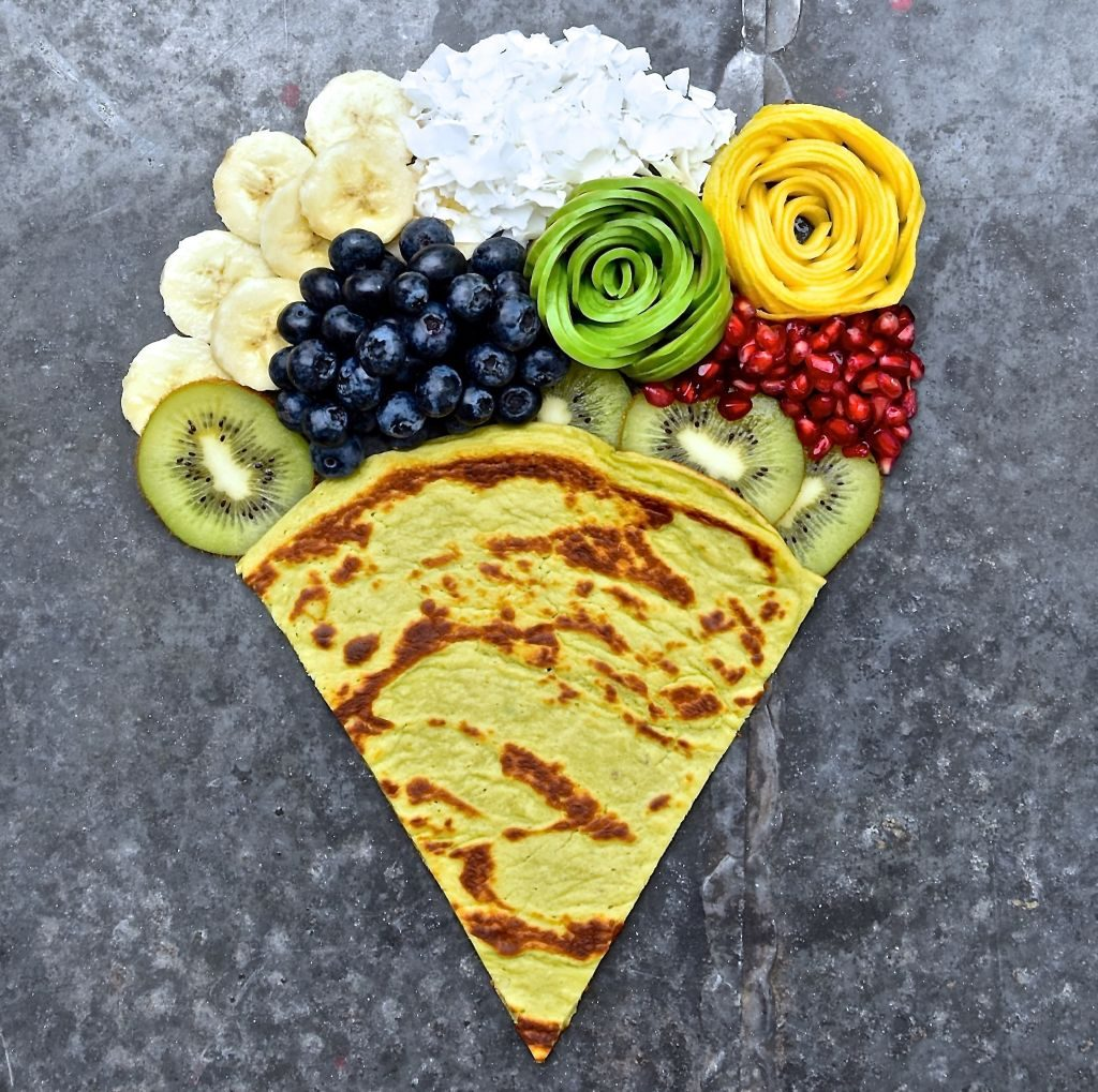 avocado pancake & fruit