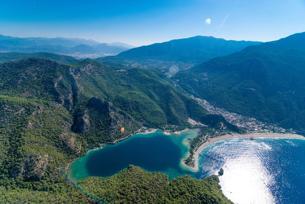 Sky view of Oludeniz, Turkey