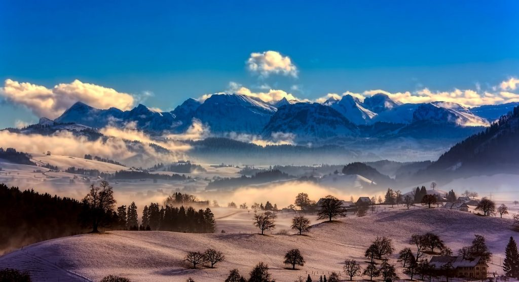 Mountain range in Switzerland