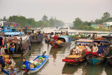 floating markets Vietnam Mekong Delta