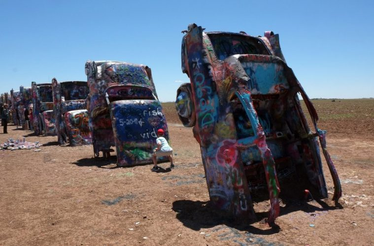 Cadillac Ranch, Amarillo, Texas America's strangest attractions