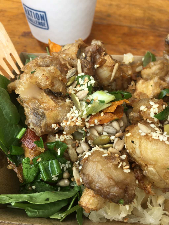 tempura mushroom plate