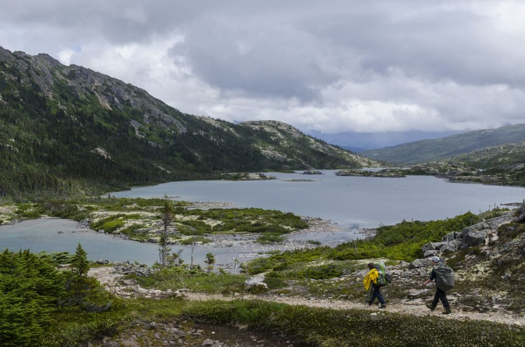 hiking in yukon Chilkoot Trail National Historic Site, National Park Service, Hiking, wilderness and wildlife, scenery, summer, heritage and culture, Kondike Gold Rush,