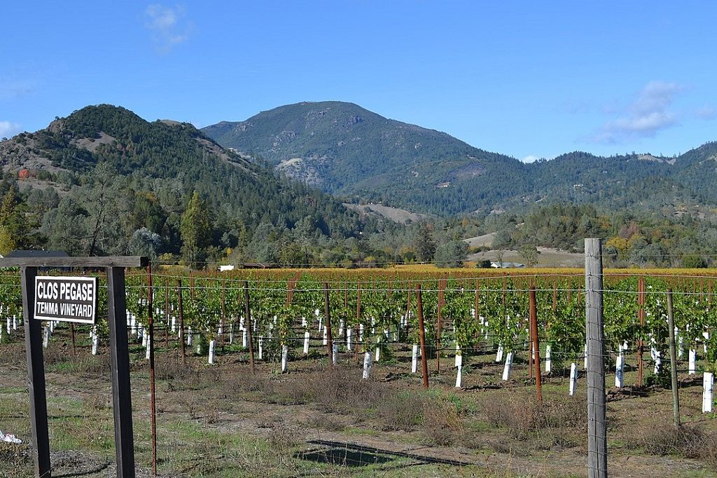 Mount Saint Helena viewed from Napa Valley California