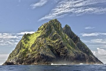 A ridged rocky island Skellig Michael lesser known Ireland