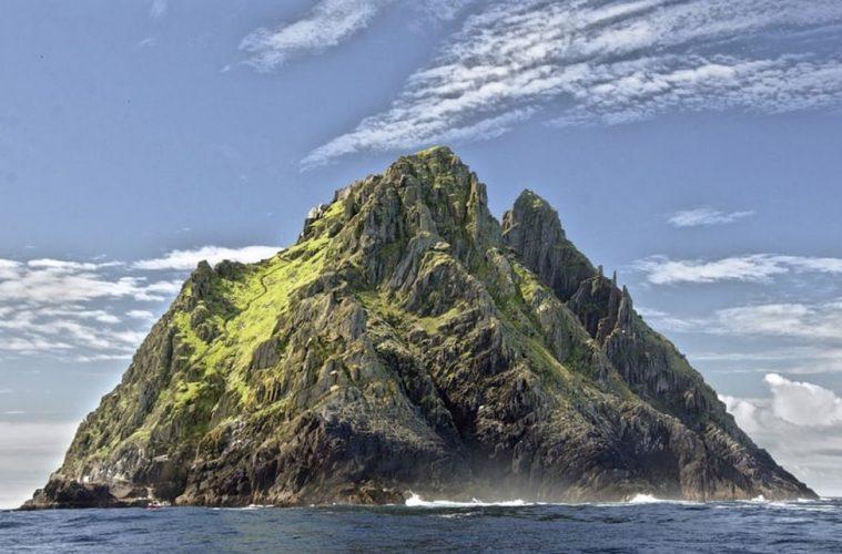 A ridged rocky island Skellig Michael lesser known Ireland