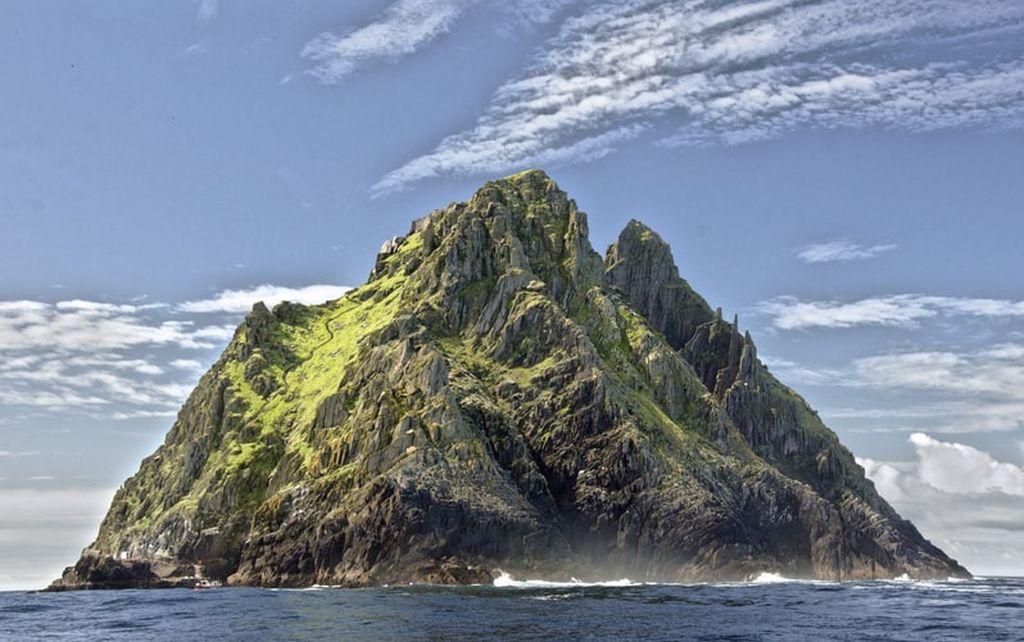 A ridged rocky island