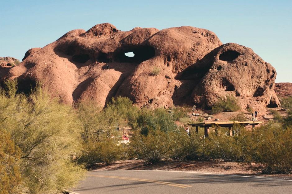 Hole in the Rock, Papago Park, Arizona.